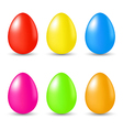 Easter set paschal eggs isolated on white vector image vector image