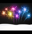 festive christmas background with firework vector image