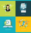 flat internet banners set vector image vector image