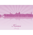 Florence skyline in purple radiant orchid vector image vector image
