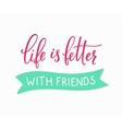 Friendship love lettering