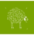 Funny white sheep sketch for your design vector image vector image