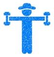 Gentleman Fitness Grainy Texture Icon vector image vector image