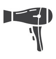 hair dryer solid icon household and appliance vector image vector image