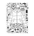 hand drawn fashion creative ink art vector image vector image