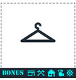 hanger icon flat vector image vector image