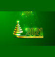 happy new 2021 year holiday cover festive banner vector image vector image
