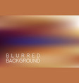 horizontal wide brown blurred background vector image