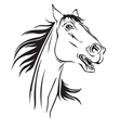 horse neighs vector image vector image