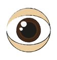 Isolated eye design vector image vector image