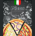 italian pizza ads or menu with rich vector image