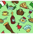 Italy doodle set pattern vector image vector image