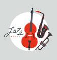 jazz music band poster flat live sound festival