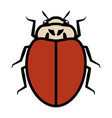 ladybug logo symbol icon sign without any spots vector image