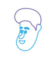 line avatar man face with hairstyle design vector image vector image