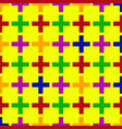 medical cross seamless pattern vector image