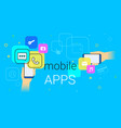 mobile apps on smartphone concept vector image