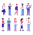 office people set modern society vector image vector image