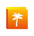 palm icon for travel company tropic palm tree vector image vector image