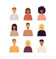 people portraits set vector image