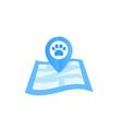 pet location icon vector image vector image