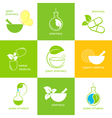 Pharmaceuticals icons set vector image