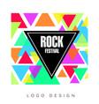 rock festival logo design template creative vector image vector image