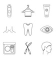 sanitation icons set outline style vector image vector image