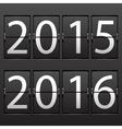 scoreboard 2015 2016 vector image