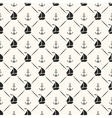 Seamless pattern of anchor sailboat shape and line vector image