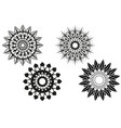 set of different mandalas vector image vector image