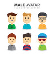 set of male avatars vector image vector image