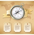 Silver compass infographic vector image vector image