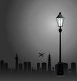 street lights and the city color vector image vector image