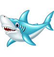stylized cartoon angry shark on a white background vector image vector image