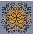 Symmetrical pattern made of blobs Ink pattern on vector image vector image