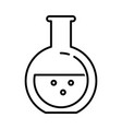 tube test isolated icon vector image vector image