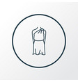 tunic icon line symbol premium quality isolated vector image vector image
