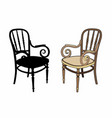 two armchairs vector image vector image