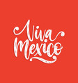 viva mexico hand lettering calligraphy vector image vector image