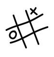 x o icon vector image vector image