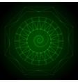 Geometry neon hexagon in green vector image