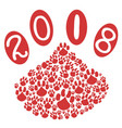 2018 dog year with dog paws background vector image vector image