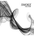 abstract black smoke on white background vector image