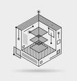 abstract lines elements technical cubic 3d vector image