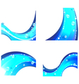 Abstract water elements vector image