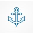 Anchor symbol or logo vector image vector image