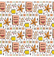 autumn seamless pattern with funny doodles cute vector image vector image
