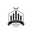 bamboo activated charcoal with bamboo tree logo vector image vector image