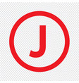 basic font for letter j icon design vector image vector image